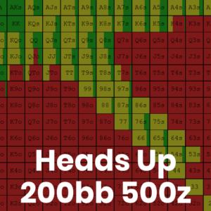 Heads Up 200bb 500z Cash Game GTO Preflop Ranges