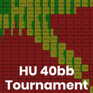Heads Up 40bb Tournament GTO Preflop Ranges