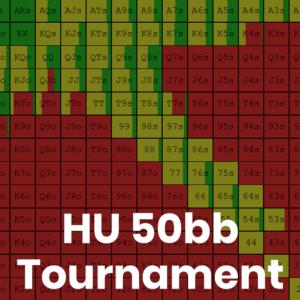 Heads Up 50bb Tournament GTO Preflop Ranges